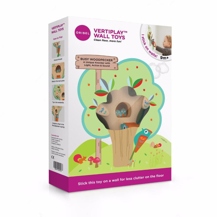 Oribel VertiPlay Wall Toy - Busy Woodpecker 貼牆玩具-忙碌的啄木鳥
