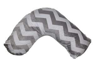 Posh 'n' Plush Nursing Pillow (Grey/White-Chevron)  Posh 'n' Plush 護理枕頭 (灰色/白色-Chevron)