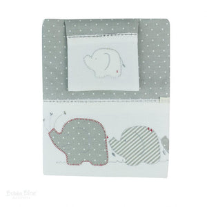 Bubba Blue Australia Petit Elephant Embroidered Cot Sheet Set (澳洲Bubba Blue 休閒大笨象系列-BB床上用品套裝)