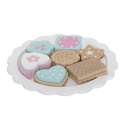 Bloomingville Denmark- Play Set, Food, Multi-color, Lotus 丹麥品牌木製餅乾小食兒童玩具
