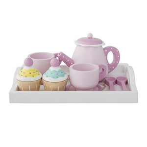 Bloomingville Denmark-Play Set, Teapot & Cupcakes, Multi-color, Lotus 丹麥品牌木製茶壺茶杯小蛋糕兒童玩具
