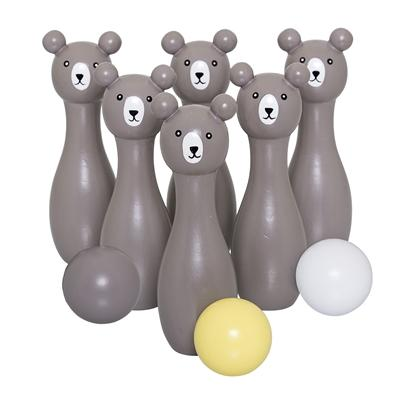Bloomingville Denmark- Play set, Bowling, Grey, Lotus 丹麥品牌木製兒童保齡球玩具