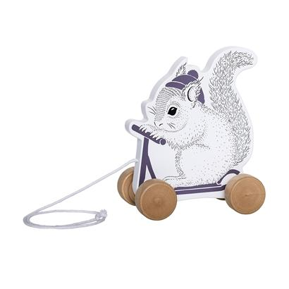 Bloomingville Denmark- Pull Along Toy, White and Purple Rabbit 嬰兒玩具