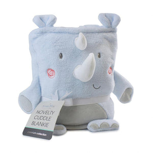 Bubba Blue Australia Rhino Run Novelty Cuddle Blankie (澳洲Bubba Blue 可愛犀牛系列-新穎抱抱毛巾毯)