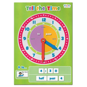 Fiesta Crafts UK- Tell The Time-Magnetic 英國Fiesta Crafts時鐘及時間學習玩具
