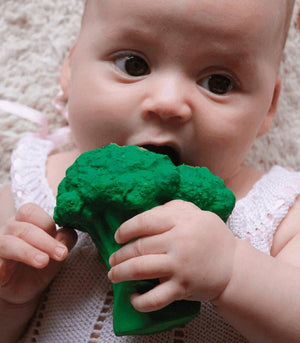 Oli & Carol Barcelona -BRUCY THE BROCCOLI Teether 西班牙Oli & Carol天然橡膠牙膠