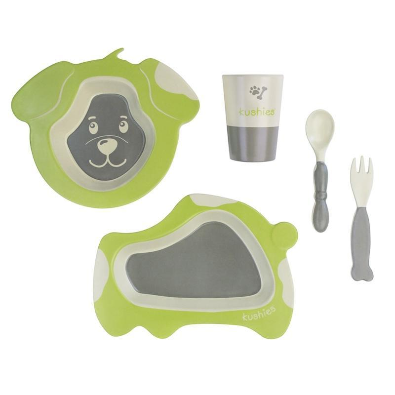 Kushies Canada- Ecoclean Tableware Set - Dog 5 pcs 加拿大品牌Kushies 無毒無害兒童餐具(一套5件)