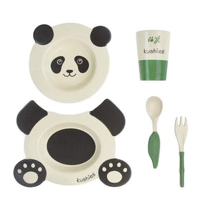 Kushies Canada- Ecoclean Tableware Set - Panda 5 pcs 加拿大品牌Kushies 無毒無害兒童餐具(一套5件)