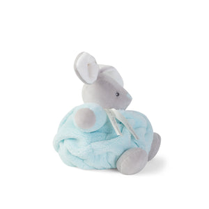 Kaloo France-  Plume Small Aqua Chubby Rabbit 法國品牌Kaloo 小兔(粉藍色)