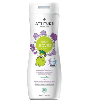 Attitude Canada- Little Leaves 2 in 1 Shampoo & Body Wash-Vanilla & Pear 473 ml(兒童洗髮及沖涼液2合1-雲呢拿+梨味)