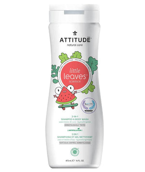 Attitude Canada- Little Leaves 2 in 1 Shampoo & Body Wash- Watermelon & Coco 473 ml(兒童洗髮及沖涼液2合1-西瓜椰子味)