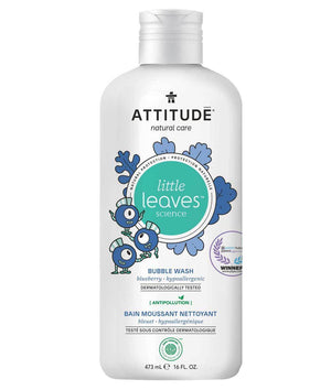 Attitude Canada- Little Leaves Bubble Bath- Blueberry 473 ml(兒童泡泡浴-藍莓味)
