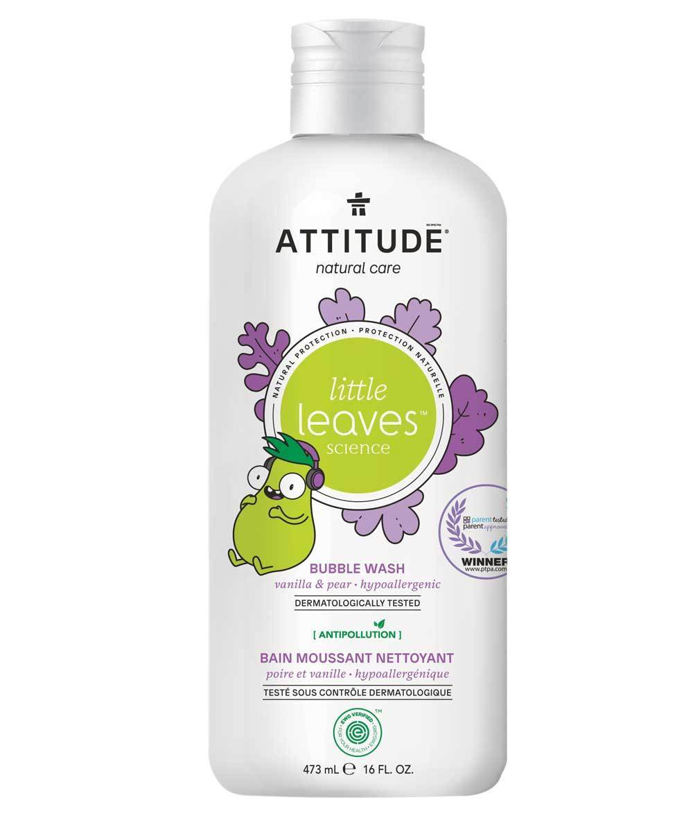 Attitude Canada- Little Leaves Bubble Bath- Vanilla & Pear 473 ml(兒童泡泡浴-雲呢拿+梨味)