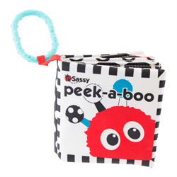 Sassy Baby USA- Black & White Peek-A-Boo Book 美國Sassy Baby嬰兒玩具(小軟書)