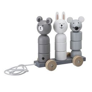 Bloomingville Denmark- Pull Along Toy, Grey, Lotus 嬰兒玩具
