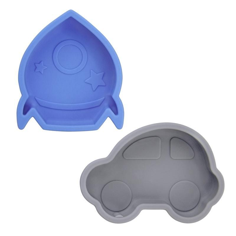 Kushies Canada- Silidip Silicone Mini Bowl- Blue Grey 加拿大品牌Kushies 吸盤學習碗