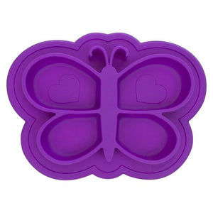 Kushies Canada- Siliplate Silicone Plate- Violet 加拿大品牌Kushies 吸盤學習盤