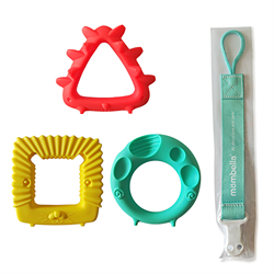 Mombella- Educational Geometry Animal Teethers 嬰兒牙膠
