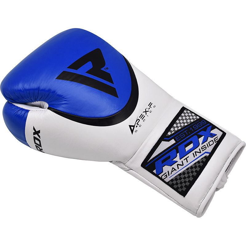 RDX A2 Pro Fight Lace Up Leather Boxing Gloves BBBofC / BIBA / WBF Approved