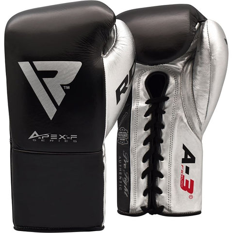 RDX A3 Professional Boxing Gloves  -  Black or Silver