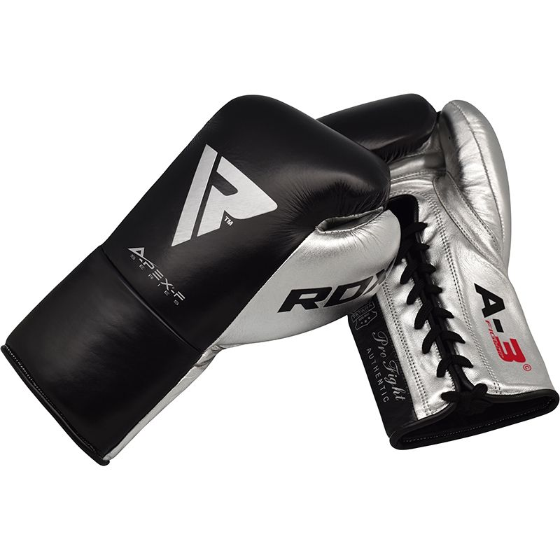 RDX A3 Professional Boxing Gloves  -  Black or Silver - FIGHTsupply