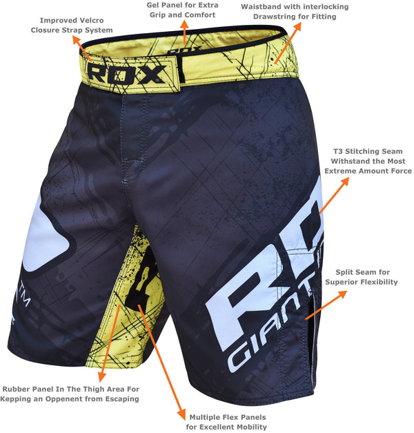 RDX R4 Yellow MMA Shorts - FIGHTsupply