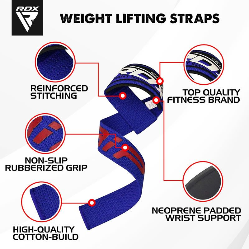 Silicone Gel Coated Weightlifting Gym Straps for No-Slip Grip