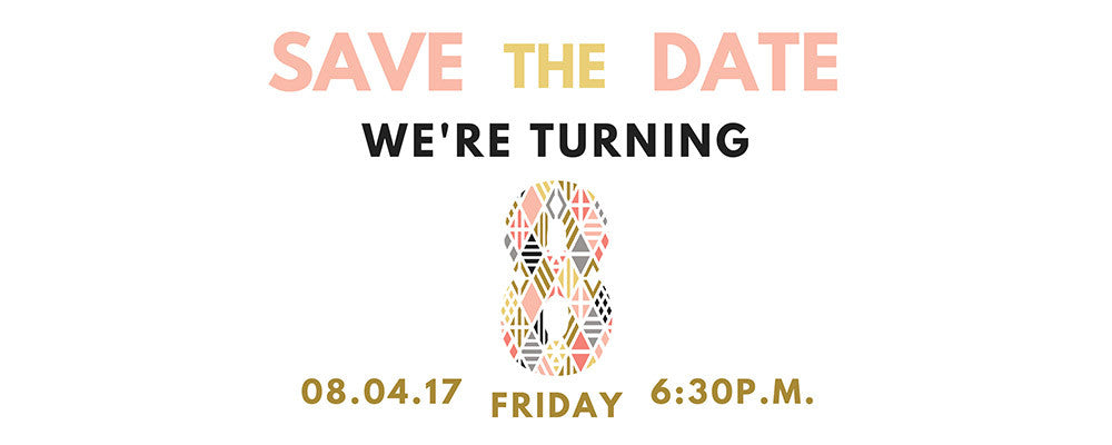 Save the Date: taudrey is Turning 8!