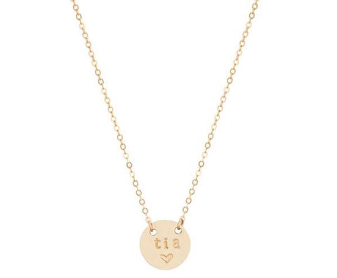 taudrey tia mini coin necklace aunt mothers day gift