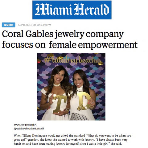 taudrey miami herald article jewelry company miami female entrepreneur empowerment