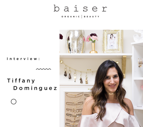 taudrey press clips media coverage Baiser Beauty blog Tiffany Dominuez