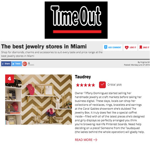 taudrey features in Time Out Miami Best Jewelry Stores in Miami