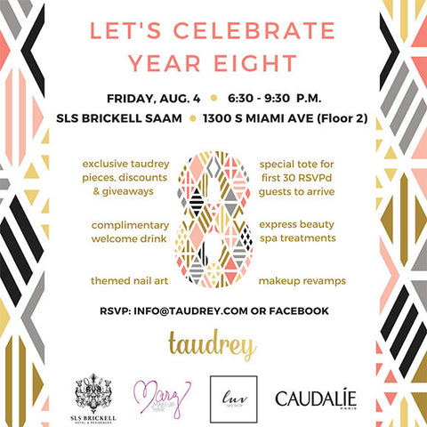 taudrey invitation 8th anniversary party