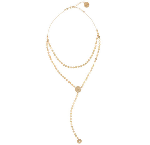 taudrey thats darling lariat charm necklace Courtney Inkpen