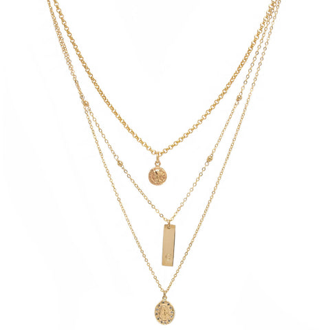 taudrey blogger collection layered triple threat necklace