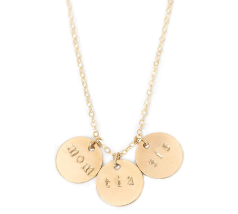 taudrey personalized hand stamped future is female necklace