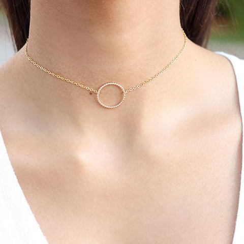 taudrey love loop choker necklace Valentine's Day Gift