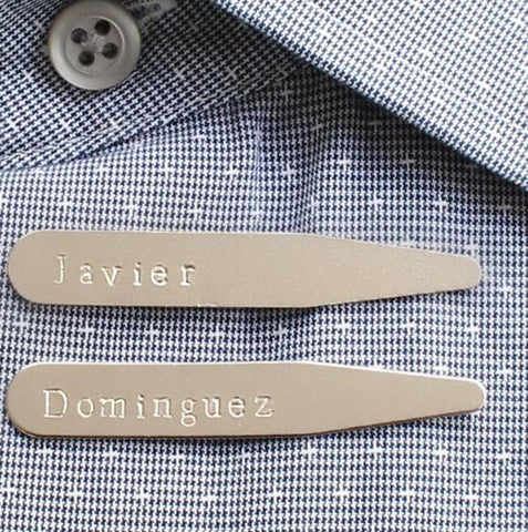 taudrey hand stamped collar stays personalized mens gift