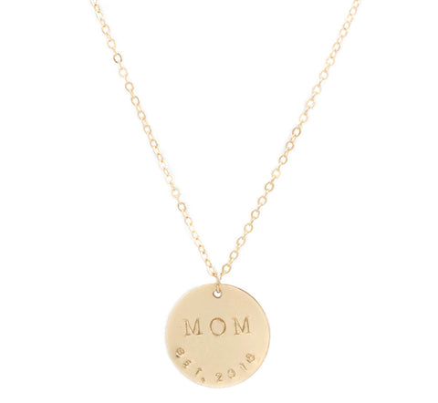 taudrey personalized mom gold necklace