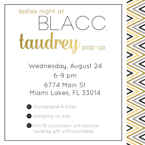 taudrey pop up event at blacc boutique