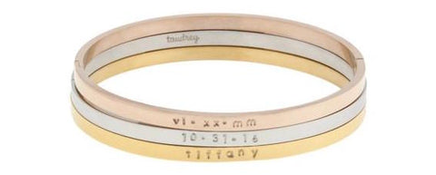 taudrey pretty please bangle set personalized Valentine's Day Gift