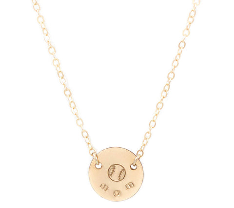 taudrey sports mom personalized necklace with ball symbol