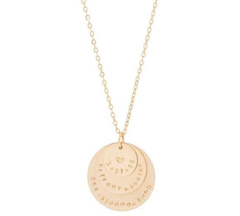 taudrey third time's a charm gold personalized necklace mom week mother's day promotion