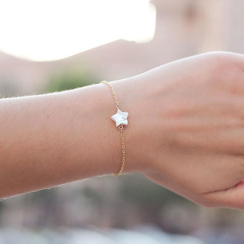 taudrey twinkle star accent gold bracelet Galentine's Valentine's Day Gift