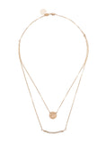 Taudrey Mini Coin Crystal Necklace