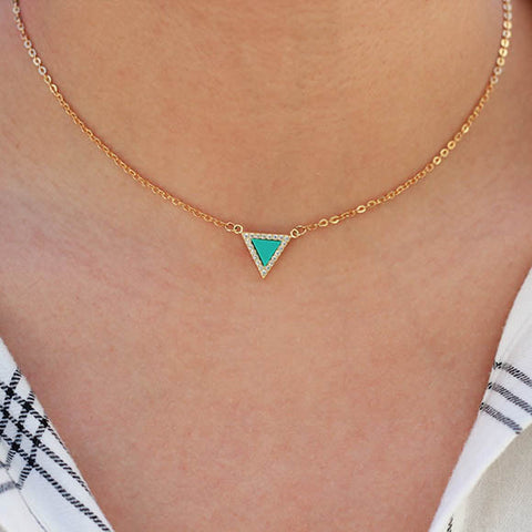 taudrey get to the point necklace turquoise styled
