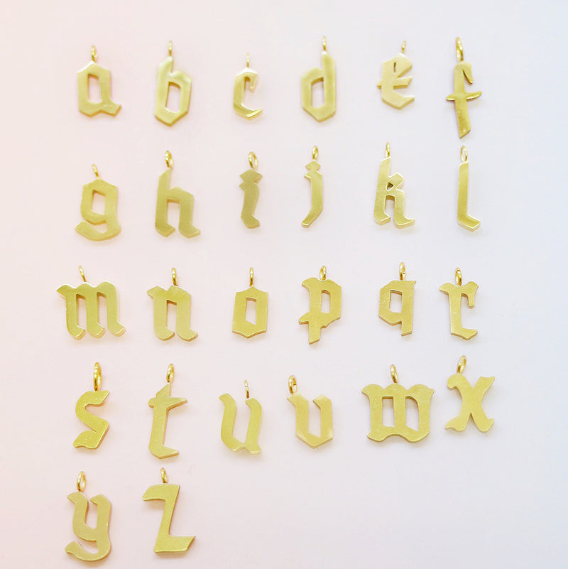 oh my goth necklace letter charms