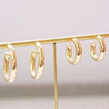 Ahead of the Curve Hoop Earrings (large)