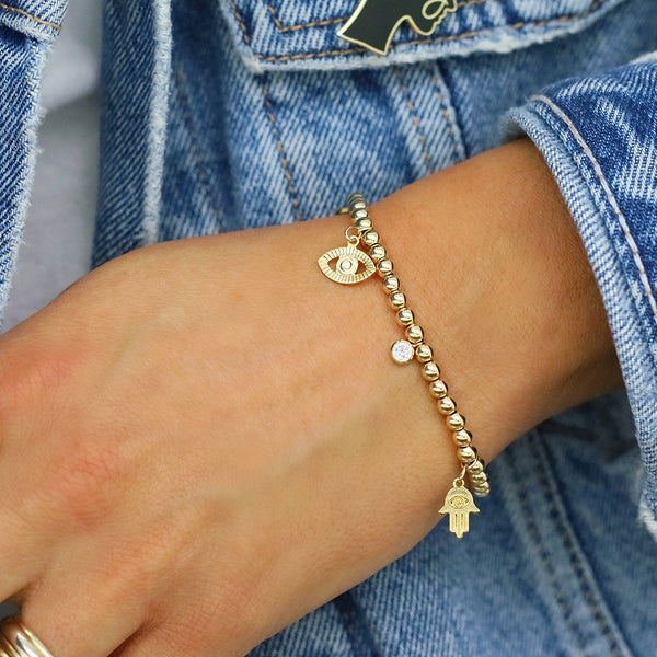 taudrey she's so lucky gold bracelet