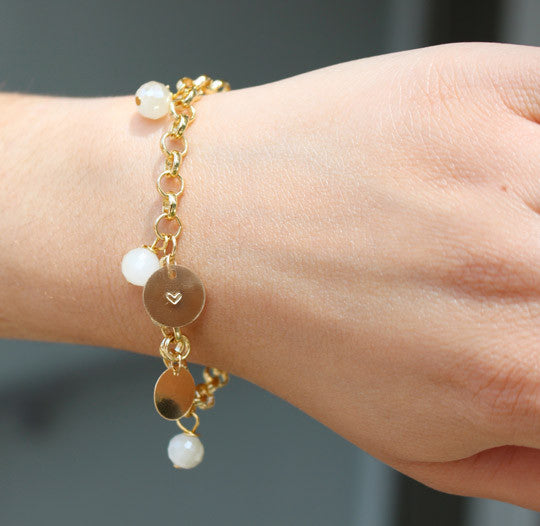 The Hang of It Gold Bead and Coin Bracelet